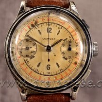 Courier Original 1940 Sandwich Dial Step-case Chronograph...