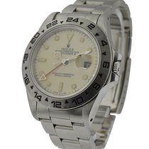 Rolex Used 16550_cream Explorer II with Cream Dial - Steel...