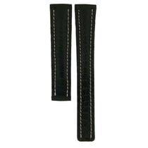 Breitling Black Crocodile Leather Strap For Deployment Buckles...