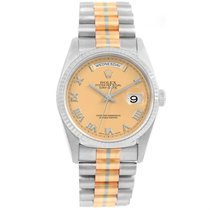 Rolex President Day-date Tridor White Yellow Rose Gold Mens...