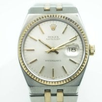 Rolex Datejust Oysterquartz 36 Two Tone Champagne Gold Stick Dial