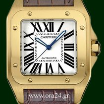Cartier Santos 100 Automatic 18k Yellow Gold Box&Papers