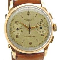 Universal Genève Uni-Compax Chronograph 18 kt Gold Cronografo...