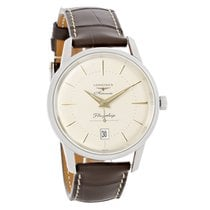 Longines Flagship Mens Brown Strap Swiss Automatic Watch...