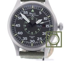 Ball Engineer Master II Aviator 46m Green Textile Strap NEW