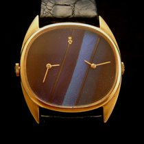 Corum Rare Dual Time Feather 18k Gold Watch 80's