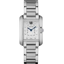 Cartier Tank Anglaise Stainless Steel Diamond Dial