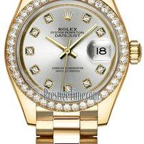 Rolex Lady Datejust 28mm Yellow Gold 279138RBR Silver Diamond...