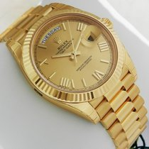 Rolex Day-Date 40 President YG 40mm 228238 Champagne Roman Dial