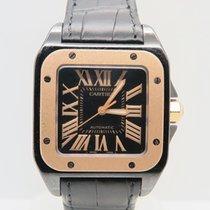 Cartier Santos 100 Black PVD & Rose Gold (Box&Papers)