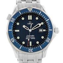 Omega Seamaster Professional Blue Wave Dial Quartz Mens Watch...