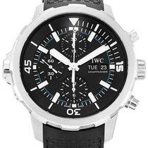 IWC IW376803 Schaffhausen Aquatimer Chronograph Black Dial...