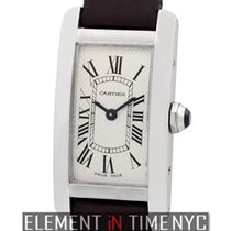 Cartier Tank Collection Tank Americaine Small 19mm 18k White Gold