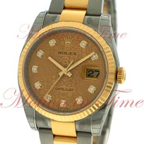 Rolex Datejust 36mm, Champagne Jubilee Diamond Dial, Fluted...