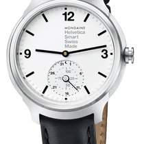 Mondaine UNISEX Quartz 44mm Helvetica 1 Smartwatch MH1.B2S10.LB