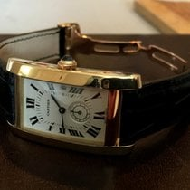 Cartier Tank Americaine MM Yellow Gold 40 x 24 mm (Full Set)