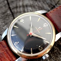 Omega Black dial automatik Rote Zeiger Pointed Cal 501 aus 1956