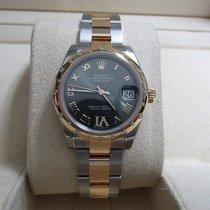 Rolex Lady-Datejust 31 18K/SS Domed Diamond Bezel/Dial