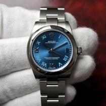 Rolex Oyster Perpetual Lady 31 Azzurro Blue Dial 177200 NEW