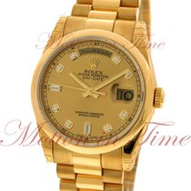 Rolex Day-Date 36mm President, Champagne Diamond Dial, Domed...