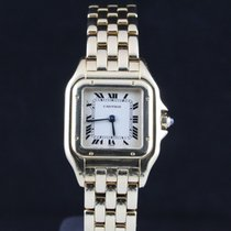 Cartier Panthere 18k Yellow Gold Timepiece On Bracelet