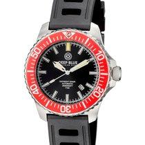 Deep Blue Daynight Diver T100 Auto Tritium Watch Ss Case Red...