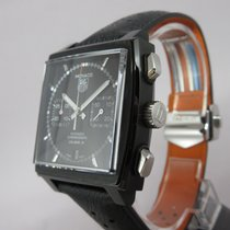 TAG Heuer Monaco Chronograph Black Steel 39mm - Full Set