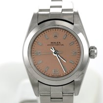 Rolex Oyster Perpetual Salmon Luminescent Dial Lady 25mm
