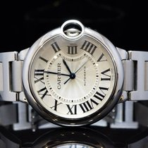 Cartier 36mm Ballon Bleu Automatic, Stainless Steel, Boxed,