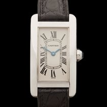 Cartier Tank Americaine 18k White Gold Ladies 1713 - W2883