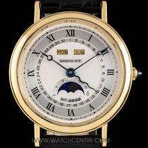 Breguet 18k Gold Serpentine Triple Date Calendar Moonphase 3040