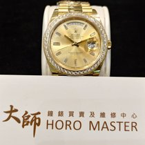 Rolex Horomaster- DAY-DATE 18K Yellow Gold President Diamond