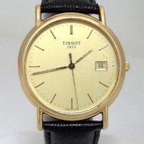 天梭 (Tissot) Mens Tissot 1853 18k Yellow Gold Date Dial Black...