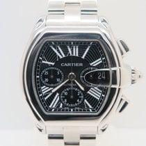 Cartier Roadster Chronograph XL Black Dial Extra Cartier Strap