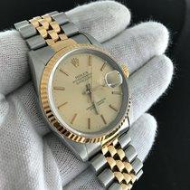 Rolex Datejust 16233 'e' Steel/yellow Gold Champagne...