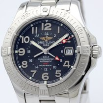 Breitling Colt Gmt Stainless Steel Automatic Mens Watch A32350...