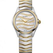 Ebel Wave Lady Steel Bracelet, Gold Wave Diamond