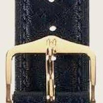 Hirsch Uhrenarmband Camelgrain schwarz L 01009050-2-22 22mm