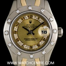 Rolex 18k W/G & Y/G O/P Myriad Dial Pearlmaster Datejust...