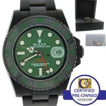 Rolex Bamford VERDE Black PVD GMT Master II Green Watch