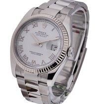 Rolex Unworn 116234 Mens Datejust in Steel with White Gold...