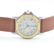 Cartier Santos Ronde Herren Uhr Quartz Stahl/gold 30mm 187902