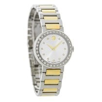 Movado Concerto Ladies Diamond Two Tone Swiss Quartz Watch...