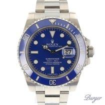 Rolex Submariner Date White Gold / Blue / Cerachrom