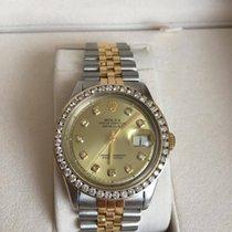 Rolex Datejust Gold Steel Jubilee 1603 Diamond Dial 36mm 16013