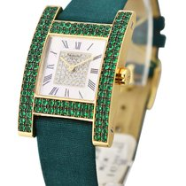 Chopard 136818-0006 H Watch in Yellow Gold with Green Emerald...