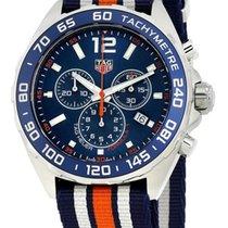 TAG Heuer Formula 1 Chronograph Blue Dial Nylon Band Men's...
