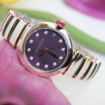 Bulgari Lucea Steel/Gold Diamonds Lady Watch