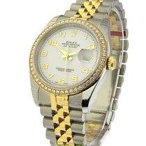 롤렉스 (Rolex) Unworn 116243 Mens 2-Tone Datejust with Diamond...