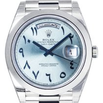 Rolex Oyster Perpetual Day-Date 40 Platinum Arabic Dial 228206